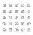 mini icon set - home icon vector image vector image