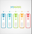 modern infographic colorful design template 1 vector image vector image