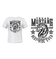 mustang stallion t-shirt print template vector image vector image