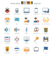 Network Colorful Icons vector image vector image