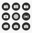 photo icon set round button vector image