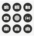 photo icon set round button vector image vector image