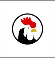 rooster head logo cartoon chicken vector image vector image