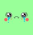 sad kawaii face cute cartoon funny crying vector image