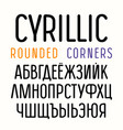 sanserif font with rounded corners vector image vector image