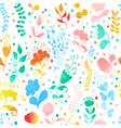 Seamless pattern with watercolor flowers vector image vector image