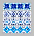 set azulejos portuguese traditional ornamental vector image