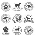 set dog logo and icons for dog club or vector image