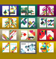 set of a4 business brochures or annual report vector image