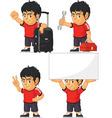 Soccer Boy Customizable Mascot 14 vector image vector image