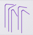 straw for beverage drinking straws of purple vector image vector image