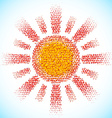 Sun made of scattered balls vector image