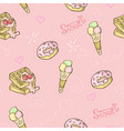sweet food pattern seamless vector image