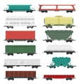 Train carriages set vector image vector image