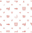 tropical icons pattern seamless white background vector image vector image