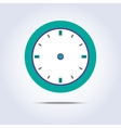 Abstract chronometer icon green color vector image