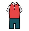elegant masculine costume icon vector image