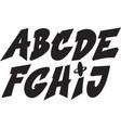 graffiti alphabet vector image
