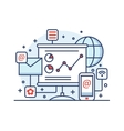 Internet marketing line style vector image