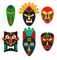 traditional mask of african tribes religious mask vector image