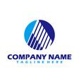 a logo a logo design initial a logo circle a vector image vector image