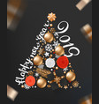 abstract christmas tree of different holiday vector image vector image