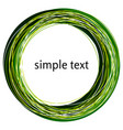 abstract green swirl shape vector image vector image