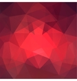 Abstract red mosaic background Triangle geometric vector image vector image