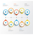 air flat icons set collection of drop shower vector image