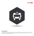ambulance icon hexa white background icon template vector image