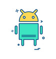 android icon design vector image vector image