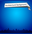 architectural blue background vector image vector image