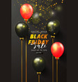 black friday sale background with black and red vector image vector image