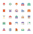 Building and Furniture Icons 13 vector image vector image