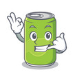 call me soft drink character cartoon vector image