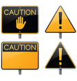 Caution and Warning Signs vector image vector image