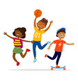 children sport activities concept flat vector image