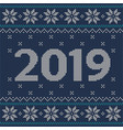 christmas blue jumper fragment with 2019 new year vector image