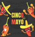 cinco de mayo banner template may 5 federal vector image