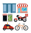 city delivery service vector image vector image
