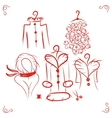 Coats on hangers sketch for your design vector image vector image