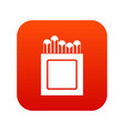 crayons icon digital red vector image vector image