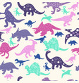 cute abstract seamless pattern with dinosaurs vector image vector image