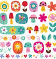 cute flowers pattern 5 vector image vector image