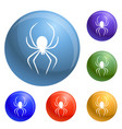 death spider icons set vector image vector image