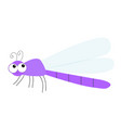 dragonfly icon cute cartoon kawaii funny vector image vector image