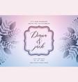 elegant wedding card design with leaves decoration vector image