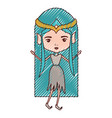 elf princess fantastic characters in colored vector image