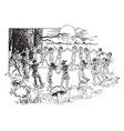 elves and fairies dancing germanic mythology vector image vector image