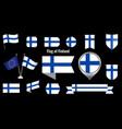 flag finland big set icons and symbols vector image vector image